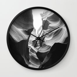ANTELOPE CANYON (B+W) Wall Clock