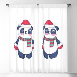 CUTE CHRISTMAS PANDA Blackout Curtain