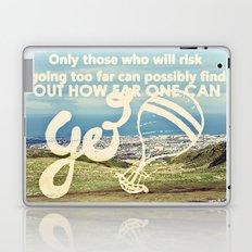 Adventure Quote, hot air balloon Laptop & iPad Skin
