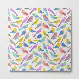 Dazzling Colored Bird Pattern Metal Print