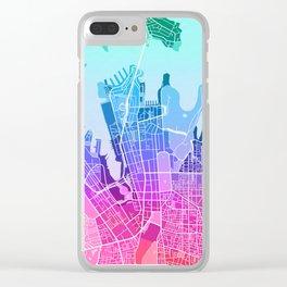 Sydney Map (Colour Gradient) Clear iPhone Case