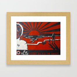 Greatest Threat to Humanity: Ourselves Framed Art Print