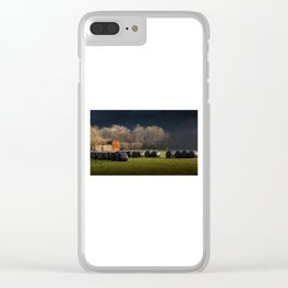 Black hay bales Clear iPhone Case