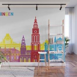 Groningen skyline pop Wall Mural