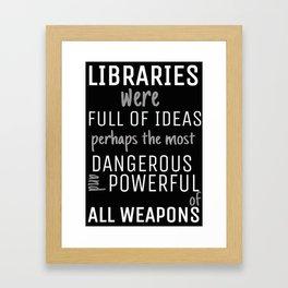 Libraries Framed Art Print