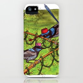 Christmas Wrens iPhone Case