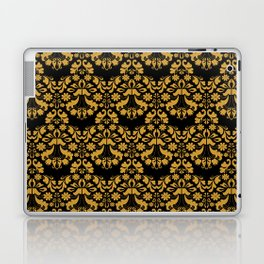 Golden ornament in baroque style Laptop & iPad Skin