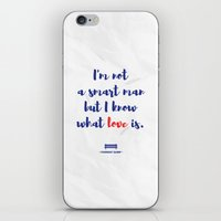 forrest gump iPhone & iPod Skins featuring Forrest Gump knows what love is by POP Collective
