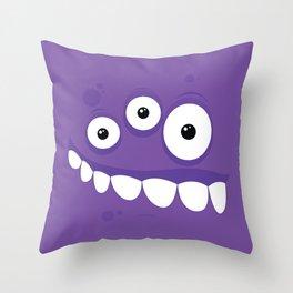 Psychos - Crazy Monsters (Purple) Throw Pillow