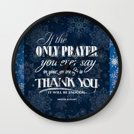 The Only Prayer Wall Clock