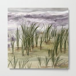 summer storm sea shore Metal Print