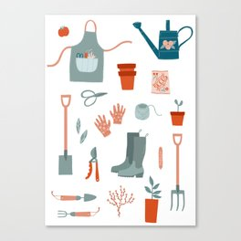 Gardening Things Canvas Print