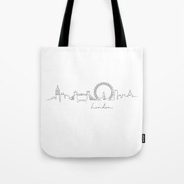 Pen line silhouette London Tote Bag