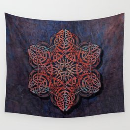 Distressed Metal Celtic Design Wall Tapestry