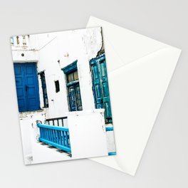 Out of the Blue   Mykonos, Greece Stationery Cards