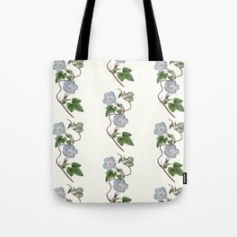 Ivy-Leaved Morning Glory Pattern Tote Bag