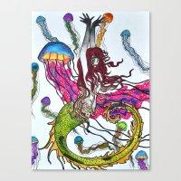 siren Canvas Prints featuring Siren by Labartwurx