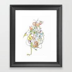Bird of Flowers Framed Art Print