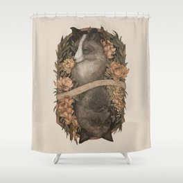 Friend Fox, Foe Fox Shower Curtain
