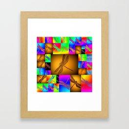 dragonfly art Framed Art Print
