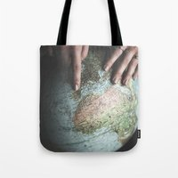 spain Tote Bags featuring Spain by Haley Marshall Photography
