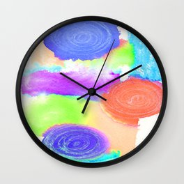 Watercolour Swirls 2 Wall Clock