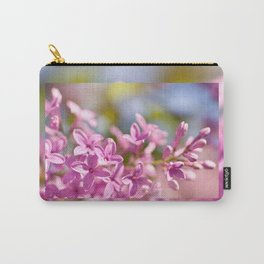 Lilac flowerets bright pink Carry-All Pouch