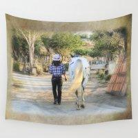 best friends Wall Tapestries featuring Best Friends by Rhonda L. Strickland