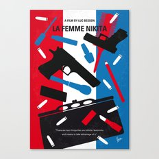 No545 My La Femme Nikita minimal movie poster Canvas Print