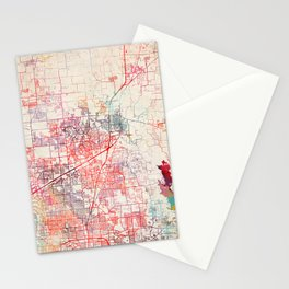 McKinney map Texas painting Stationery Cards
