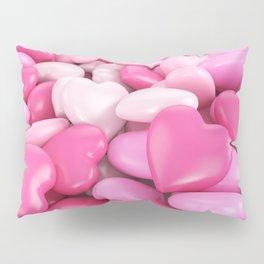 Pink hearts Pillow Sham