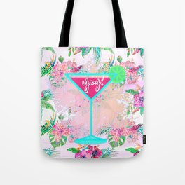 Neon Cocktail Tropics Tote Bag