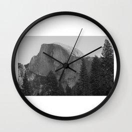 Yosemite Black & White Wall Clock