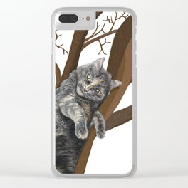 Tree Cat Clear iPhone Case