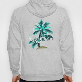 Snake Palms - Light Teal Mustard Hoody