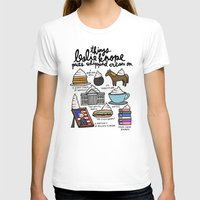 snl T-shirts featuring Things Leslie Knope puts Whipped Cream on by Liana Spiro