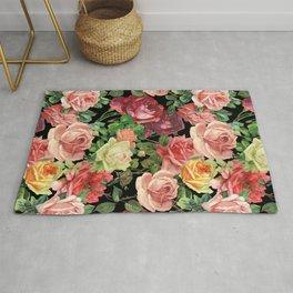 Vintage & Shabby chic - floral roses flowers rose Rug