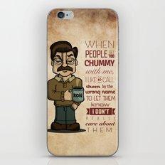 Ron Swanson 6 iPhone & iPod Skin