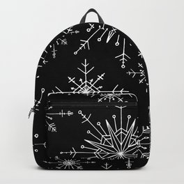 Winter Wonderland Snowflakes Black and White Backpack