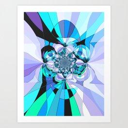 in heaven (blue) Art Print