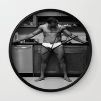 chef Wall Clocks featuring Hot Chef by SalAnthony