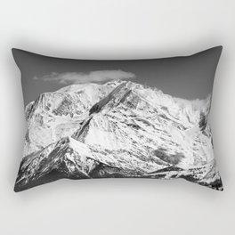 Mt. Blanc with cloud. Rectangular Pillow