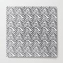 Zebra stripes minimal black and white modern pattern basic home dorm decor nursery by charlottewinter