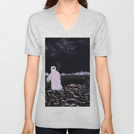 Lonely Nights Unisex V-Neck