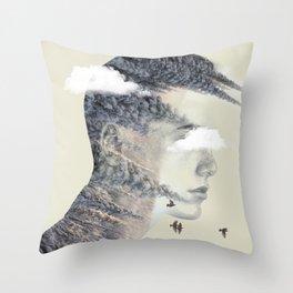 Head Strong Throw Pillow