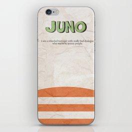 Juno - Alternative Movie Poster, classic movie, funny movie, minimal movie poster iPhone Skin