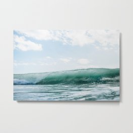 Wave Crash - Tropical Crash Metal Print