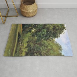 12,000pixel-500dpi - Friedrich Loos - Group of Trees in the Park - Digital Remastered Edition Rug