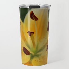 Asiatic Yellow Lily Travel Mug