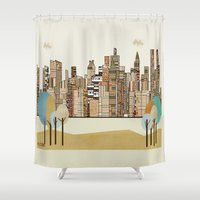 montreal Shower Curtains featuring montreal by bri.buckley